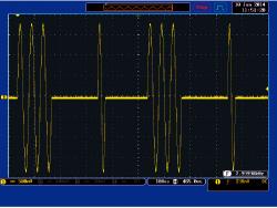 Intermittent sine wave (3 waves + 1 wave)